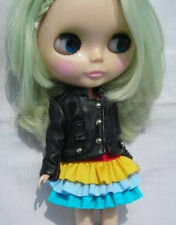 Blythe Outfit Clothing Leatherette Black Coat Jacket