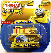 THOMAS THE TANK & FRIENDS-TAKE N PLAY GOLD THOMAS TRAIN DIE CAST - LTD ED -*NEW*