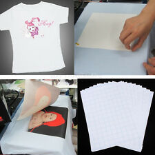 10Sheets T-Shirt Print Iron-On Heat Transfer Paper Sheets DIY T-Shirt Print New