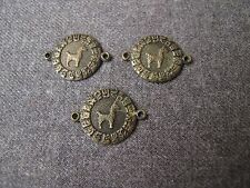 3 VINTAGE ETHNIC  LLAMA  BRASS LINKS LOT FOR JEWELRY MAKING