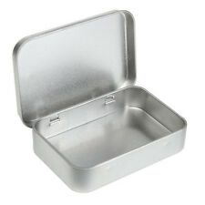 Survival Kit Tin Higen Lid Small Empty Silver Flip Metal Storage Box Case