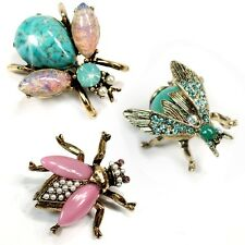 NWT SWEET ROMANCE SET OF 3 EXOTIC BEES SCATTER PINS  PASTELS