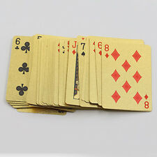 New High Grade 24K Gold Foil Poker Lattice Grid Pattern Playing Cards Gracious