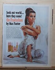 1966 magazine ad for Max Factor Frosterinos cosmetics - Look Out World!