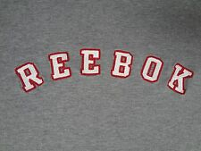 REEBOK - EMBROIDERED LETTERING LOGO - GRAY XL T-SHIRT W/BLUE ON SLEEVES B121