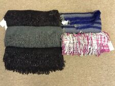 New Lot Of 5 Women's Blanket Scarves Scarf Set Madden Girl Juicy Couture Black
