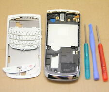 COQUE COMPLETE REMPLACEMENT ASSEMBLE FACADE BLACKBERRY TORCH 9800 BLANC CLAVIER