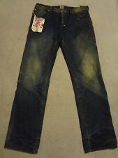 PRPS BARRACUDA Straight Dark Rusty Blue Men Jeans 32 / 33 x 33 $300+ Distressed