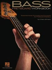 Chad Johnson Bass Fretboard Workbook Learn Play Guitar Music Tutor Theory Book