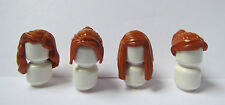 LEGO 4 Girl Female Ginger Orange Minifigure Figure Hair Wig Long Short Ponytail