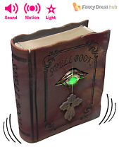 Animated Light Up Magic Book Halloween Prop Witch Spell Party Decoration + Sound