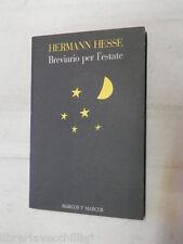 BREVIARIO PER L ESTATE Hermann Hesse Marco Y Marcos 1992 libro narrativa romanzo