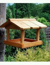 WOODEN BIRD HOUSE GARDEN WILD BIRDS TREE OR BRACKET HANG FEEDING STATION /GIFT