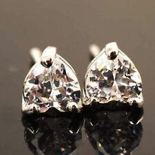 Fashion jewelry cute White Gold Filled Crystal heart Womens stud earrings