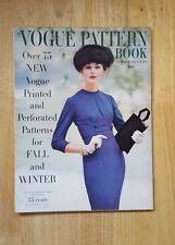 Vintage Vogue Pattern Book October - November 1956