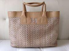 M Missoni Raffia Travel Weekend Gym Bag