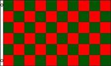 3'x5' CHECKERED FLAG RED & GREEN OUTDOOR INDOOR BANNER PENNANT SPORTS NEW 3X5