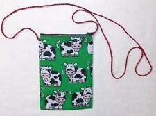 FAIR TRADE MOROCCAN HIPPY BOHO FESTIVAL COW DESIGN BAG FROM MARRAKESH MOROCCO