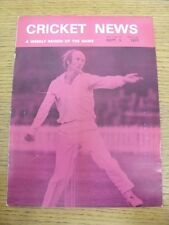 03/09/1977 Cricket News: Vol.01 No.18 - A Weekly Review Of The Game. Any faults