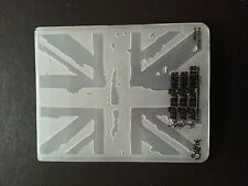 Sizzix gran Carpeta De Union Jack Bandera Fit Cuttlebug & Big Shot Tim Holtz