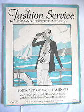 VINTAGE AUGUST 1929 FASHION SERVICE, WOMANS INSTITUTE MAGAZINE