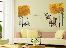 Tree park streetlight wall stickers D_HUMG