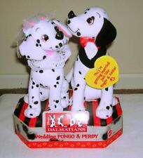 """101 Dalmatians Wedding 8"""" Pongo & Perdy Plush Stuffed Dogs NIB"""