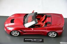 New C7 Corvette Convertible Model in Crystal Red 1:18 Scale by BBR  BLM-1815A0