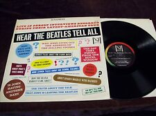 "BEATLES ""HEAR THE BEATLES TELL ALL"" LP STONES INTERVIEW 60'S BRITISH INVASION"