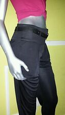 100%Authentic bebe WUDE WAISTBAND dress Pants with belt   SZ 2 $149