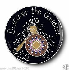 NA/ Discover the Goddess 12 Step Recovery Program Enameled Coin/Medallion