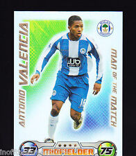 MATCH ATTAX 2008/09 Man Of The Match Antonio Valencia WIGAN ATHLETIC