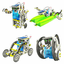 14in1 Kids Educational DIY Toys Creative Assemble Solar Transformers Robot Kits