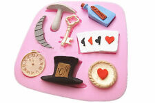 Alice Cake Fondant Candy Biscuit Paste Mold Baking Silicone Mould Decorating Too