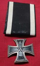 WWI ORIGINAL GERMAN IRON CROSS FIRST CLASS SCREW-BACK W/ RIBBON