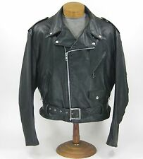 Vtg 70s NOS Perfecto by Schott Leather Motorcycle CHP Police Biker Jacket sz 52