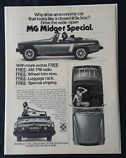 Vintage 1976 MG Midget Special - British Leyland Motor Company - Full Page AD