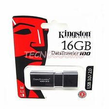 KINGSTON DT100 G3 16GB USB 3.0/2.0 CHIAVETTA PEN DRIVE 16GB MEMORIA PENNA CHIAVE