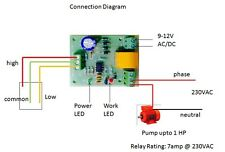 Fully Automatic Water Level Controller, Tank Level Controller, Works On 12VDC