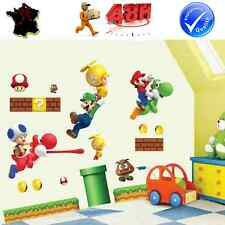 STICKER MUR AUTOCOLLANT ADHESIF SUPER MARIO GEEK JEU VIDEO ENFANT DECORATION 48h