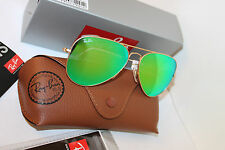 Ray Ban RB3025 112/19 Aviator Gold Frame Green Flash 58mm Lens Sunglasses