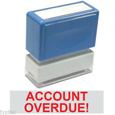 """JYP PA1040 Rectangle Stock Pre-Inked Rubber Stamp with """"Account Overdue!"""""""