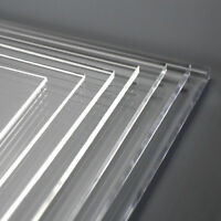 Clear Perspex Acrylic Plastic Sheet Laser Cut and Polished Custom Panels Size