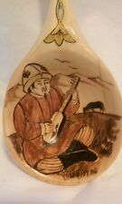 ASIAN THEME PAINTED WOODEN SPOON