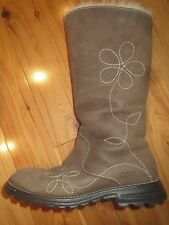 Ugg Brown Suede Boots Flower Detail Size 5 Womens * Free Same Day Shipping *