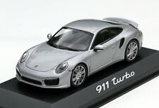Minichamps Porsche 911 Turbo Coupé Typ 991 Bj. 2011-2015, 1:43, silbermetallic