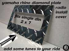 Yamaha Rhino Center Dash  blank with radio cut out Diamond plate ..