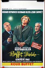 B Blier : G Depardieu : J Carmet : Buffet Froid : POSTER