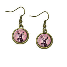 Deer Hunting Pink Camouflage Dangle Dangling Drop Earrings