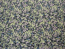 "LIBERTY OF LONDON TANA LAWN COTTON FABRIC ""Wiltshire Berry"" 2.4 M BLUES/PURPLES"